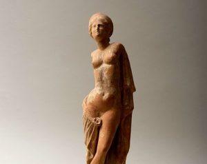 Fine Greek Terracotta Standing Aphrodite