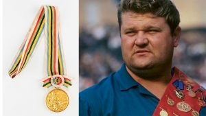 Leonid Zhabotinskys Olympic gold winners medal among Olympic memorabilia up for auction