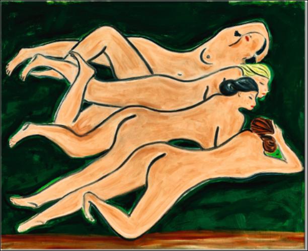 Sanyu, Quatre Nus, 1950s. Image from Sotheby's.