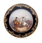 A Sevres Painted and Parcel Gilt Napoleonic Porcelain Cabinet Plate