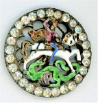 A RARE BUTTON EXAMPLE OF RONDE BASSE ENAMELING