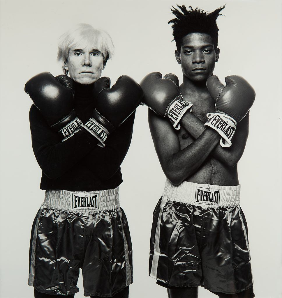 Andy Warhol and Jean-Michel Basquiat, silver print, 1985, printed 1997. Sold June 11, 2020, in Fine Photographs for $27,500.