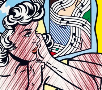 Roy Lichtenstein, Nude with Joyous Painting, 1994 Courtesy: Christie's
