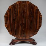 William IV Zebrawood and Parcel-Gilt Dodecagon Center Table