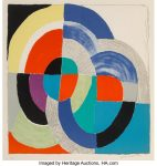 Sonia Delaunay (1885-1979). Paques Russes, 1970. Lithograph in colors on Arches paper