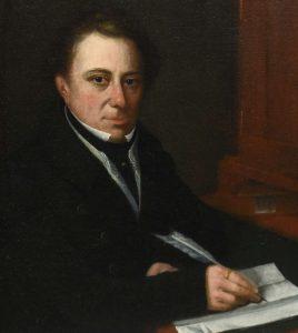 19th C. oil on canvas, portrait