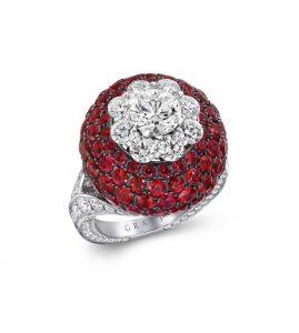 GRAFF - RUBY AND DIAMOND RING