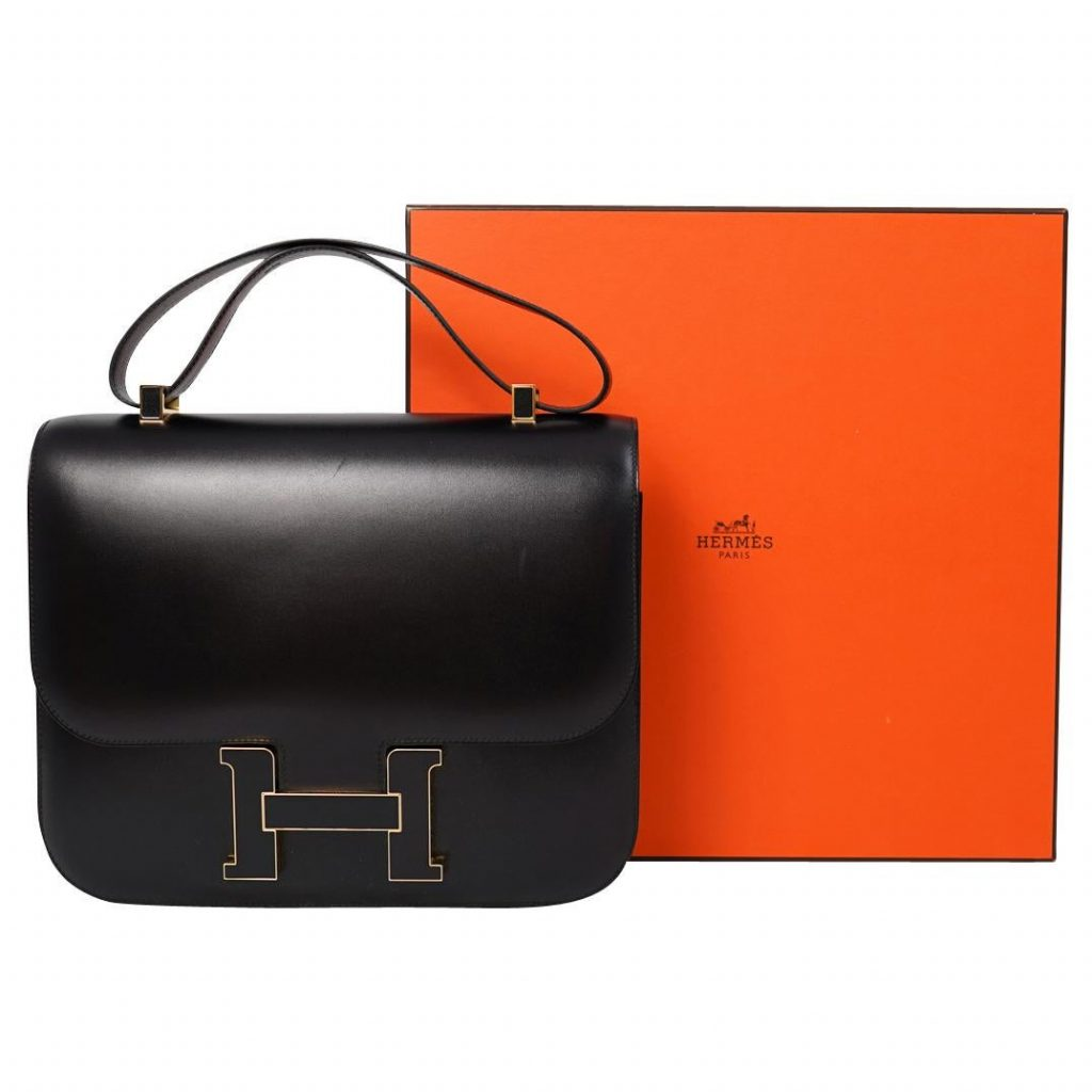 Hermes 29cm Leather Cartable Constance Tote