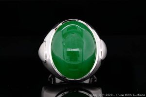 23mm Certified Natural Type A Jadeite & 18K Ring