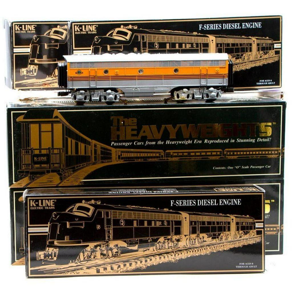 O Gauge K-Line K2521 D&RGW F7 A-B-A and K4421 (6)
