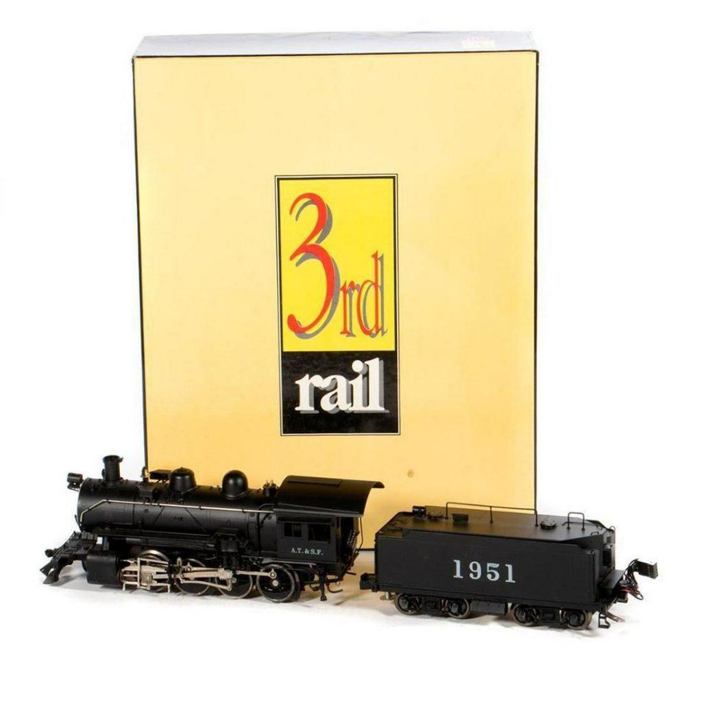 O Gauge Sunset Third Rail Brass Santa Fe 2-8-0