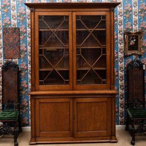 Regency Carved Oak Bookcase