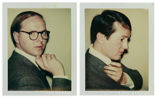 Andy Warhol. Pair of portraits of Gilbert & George. 1975. Image from Swann Galleries.