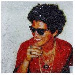 (Attributed to) Tiffanie Anderson (American, b.1988) Bruno Mars Mixed Media on Canvas