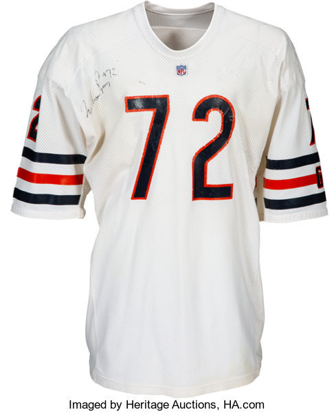 """1985 William """"Refrigerator"""" Perry Super Bowl XX Game Worn & Signed Chicago Bears Rookie Jersey with Multiple Photo Matches."""