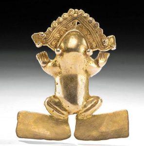 Huge - Important Panamanian 15K+ Gold Frog - 56 gr