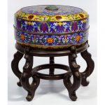 ASIAN CLOISONNE BOX AND STAND