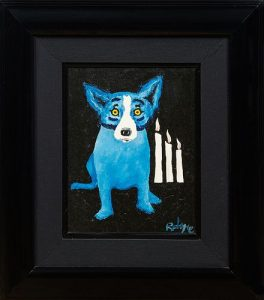 George Rodrigue (1944-2013, Louisiana), Flames of Hope, 1992, oil on canvas, signed lower right, also signed, titled and dated verso