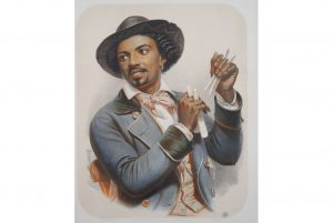 Blackwell Auctions selling scarce 1850s lithograph of Black musician