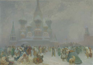 Alphonse Mucha, reduced version of The Abolition of Serfdom in Russia, 1920. Image from Christie's.