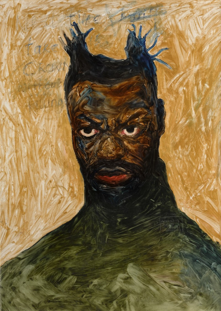 Amoako Boafo, Self Portrait, 2017. Image from Sotheby's.