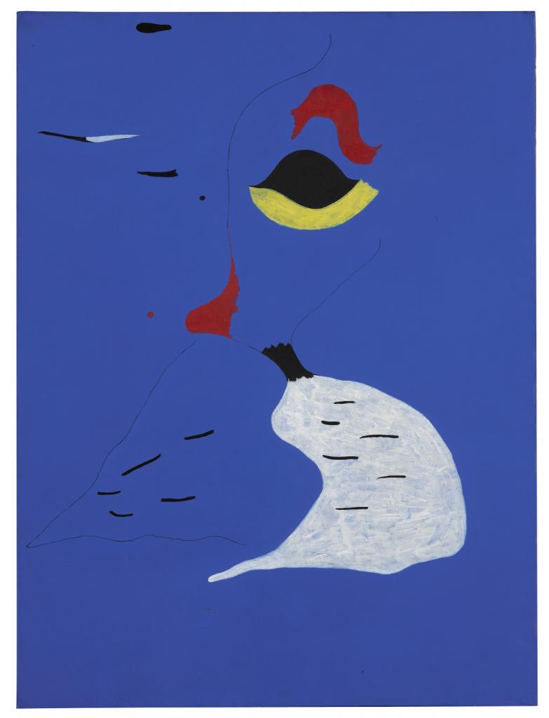 Joan Miró, Peinture (Femme au chapeau rouge), 1927. Image from Sotheby's.