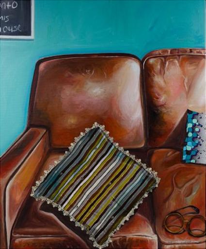 Ndidi Emefiele, untitled mixed media painting, 2017. Image from Leonard Auction.