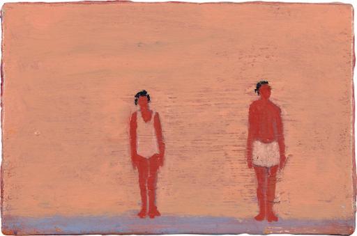 Katherine Bradford, Couple on Purple, c. 2010. Image from Phillips.