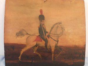 F. KEMMELMEYER - OFFICER ON HORSE PAINTING