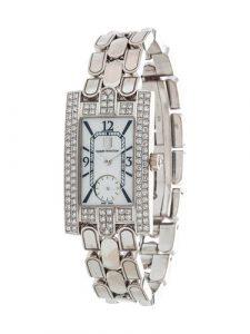 Harry Winston, 18k White Gold And Diamond Avenue Classic Wristwatch