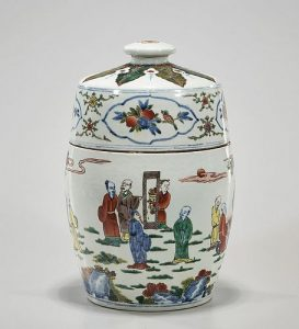 Chinese Enameled Porcelain Covered Container