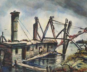 JAMES HARRIES, WPA Watercolor Landscape