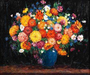 Nellie Augusta Knopf (American, 1875-1962) Garden Flowers, September Bouquet, 1926