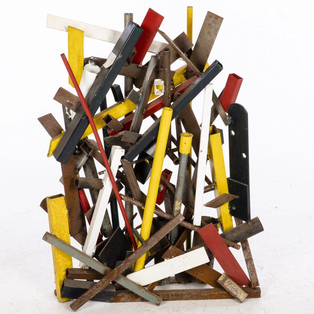 John Bucci (Italian/American, 1935-2019), Untitled, metal sculpture, 36 x 25 x 6in. Estimate $600-$800