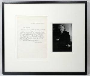 Letter written by Albert Einstein in 1943, in English, condemning racism and segregation in the U.S., is for sale