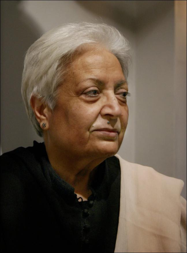 Zarina Hashmi. Image from Ram Rahman for The New York Times.