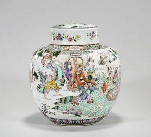 Chinese Enameled Porcelain Covered Jar