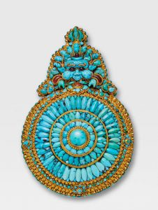 A TURQUOISE AND GOLD MOONEATER (CHEPPU)