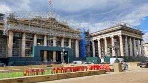 Building Wrap Specialist Project Print Management Creates Trompe LOeil Print to Cover British Museum Construction Work