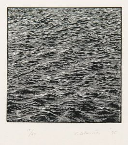 Vija Celmins (Latvian-American, b. 1938) Untitled (Ocean)