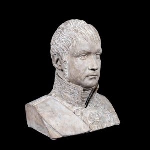 PLASTER BUST OF FRENCH MILITARY FIGURE