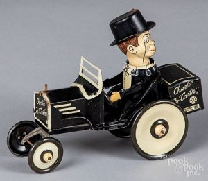 Marx lithograph wind-up Charlie McCarthy crazy ca