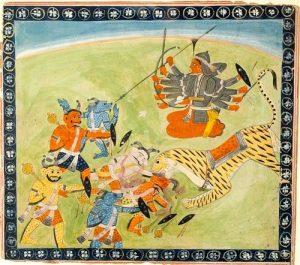 India, ILLUSTRATIONS FROM A DEVI MAHATMYA SERIES- DURGA