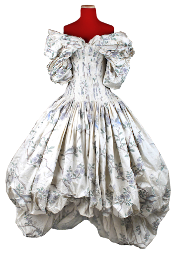 Alexander McQueen, floral print ballroom gown from The Widows of Culloden, Autumn/ Winter, 2006. Image from Doyle.