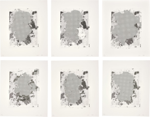 Christopher Wool, Portraits (b/w), 2014. Image from Phillips.