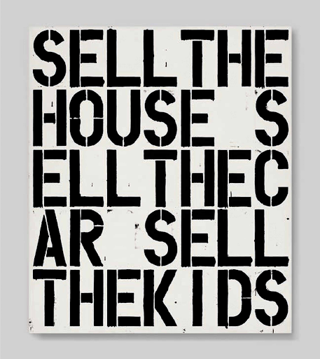 Christopher Wool, Apocalypse Now, 1988. Image from Christie's.