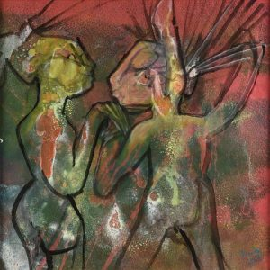 ROBERTO MATTA (Chilean 1911-2002) A PAINTING, Chat-Chat-Chat, 1997