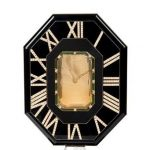 A Cartier Citrine, Onyx, Chrysoprase, Silver And Diamond 'mystery Clock', Case No. 201207, Circa 1970s