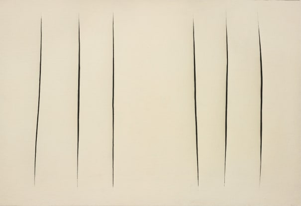 Lucio Fontana, Concetto spaziale, Attese, 1960. Image from Phillips