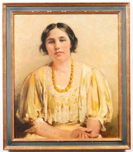Mary Curtis Richardson Portrait Oil on Canvas